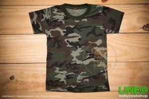 เสื้อยืดเด็กลายทหารสีเขียว ใช้ผ้า cotton เนื้อดี ตัดเย็บปราณีต Made in Thailand 1
