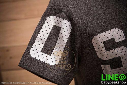 เสื้อยืดเด็กแขนสั้น ALANO ผ้า cotton แท้ 100% สีเทาดำสกรีน OSAKA คุณภาพดี ไซส์ S-M-L-XL-XXL 3