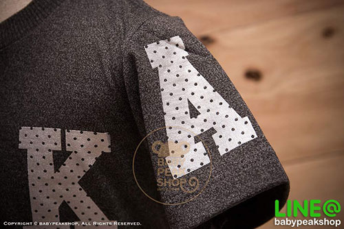 เสื้อยืดเด็กแขนสั้น ALANO ผ้า cotton แท้ 100% สีเทาดำสกรีน OSAKA คุณภาพดี ไซส์ S-M-L-XL-XXL 4
