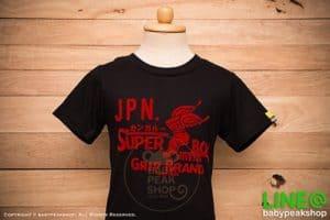 เสื้อยืดเด็กแขนสั้น KANGAROO ผ้า cotton แท้ สีดำสกรีนกำมะหยี่ SUPER BOY คุณภาพดี ไซส์ S-M-L-XL-XXL 2