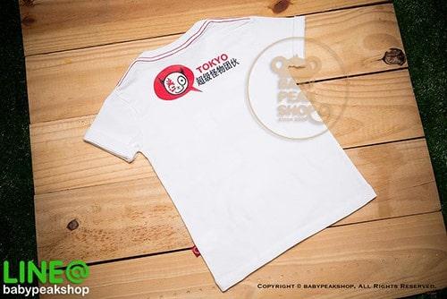 เสื้อยืดเด็ก-TK009-สีขาว-c