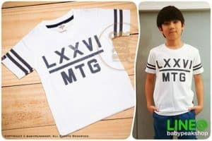 เสื้อยืดแขนสั้นเด็กเล็กสไตล์เกาหลี MONSTER GANG TK063 ผ้า cotton แท้เนื้อนุ่ม สกรีน LXXVI คุณภาพเยี่ยม ไซส์ 1-2-3 2