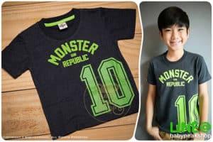 เสื้อยืดแขนสั้นเด็กเล็กสไตล์เกาหลี MONSTER GANG TK104 ผ้า cotton แท้เนื้อนุ่ม สกรีน MONSTER10 คุณภาพเยี่ยม ไซส์ 1-2-3 5