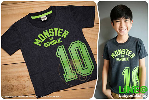 เสื้อยืดเด็ก-TK104-ดำเขียว-first