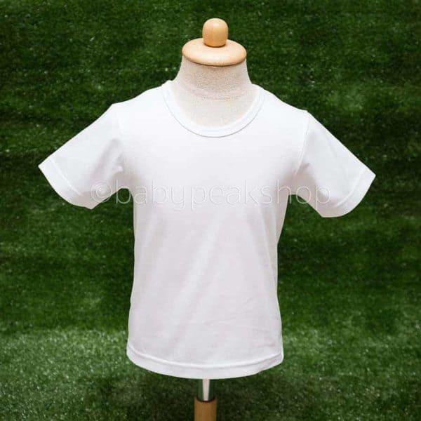 เสื้อยืดเด็กสีพื้น เนื้อผ้า cotton แท้ 100% (เบอร์ 32) 2