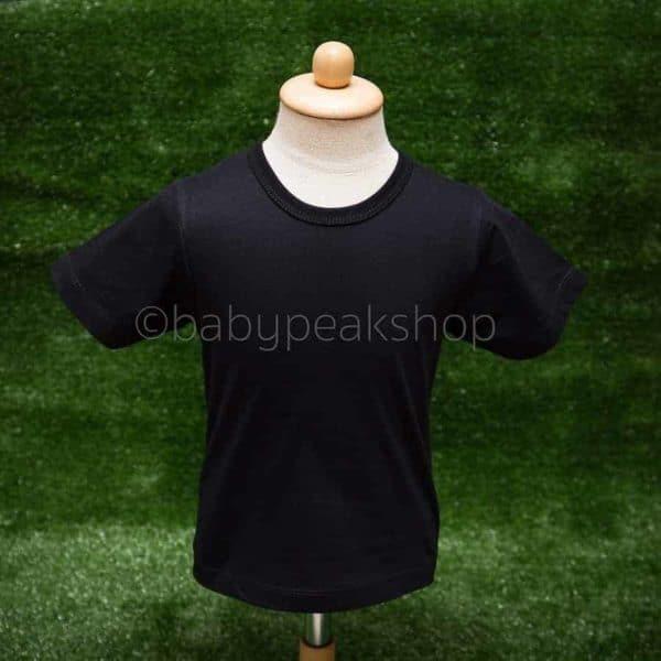 เสื้อยืดเด็กสีพื้น เนื้อผ้า cotton แท้ 100% (เบอร์ 32) 3