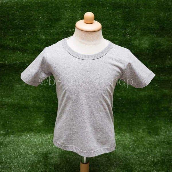 เสื้อยืดเด็กสีพื้น เนื้อผ้า cotton แท้ 100% (เบอร์ 32) 4