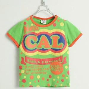 เสื้อยืดเด็กแขนสั้น CI-SI สีเขียว สกรีน New CAL 9