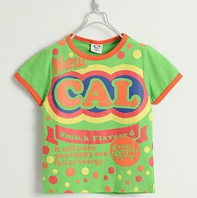 [ส่งฟรี] เสื้อยืดเด็กแขนสั้น CI-SI สีเขียว สกรีน New CAL 1