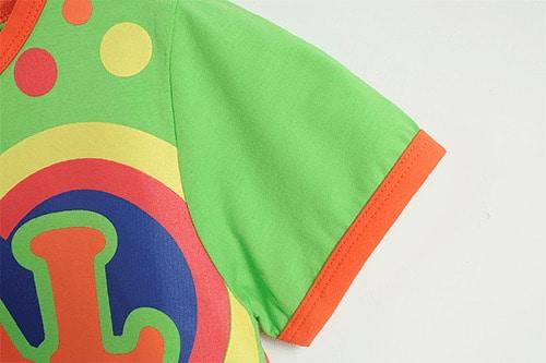 [ส่งฟรี] เสื้อยืดเด็กแขนสั้น CI-SI สีเขียว สกรีน New CAL 3