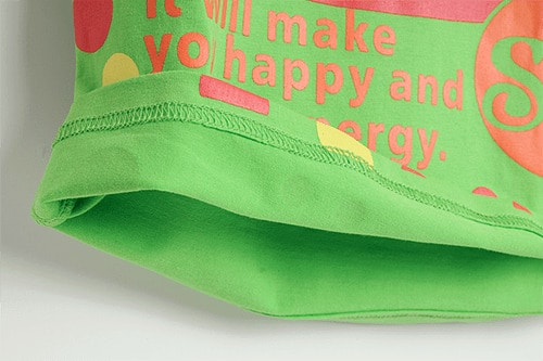 [ส่งฟรี] เสื้อยืดเด็กแขนสั้น CI-SI สีเขียว สกรีน New CAL 4