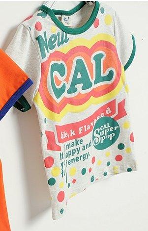 [ส่งฟรี] เสื้อยืดเด็กแขนสั้น CI-SI สีเทาขลิบเขียว สกรีน New CAL 2