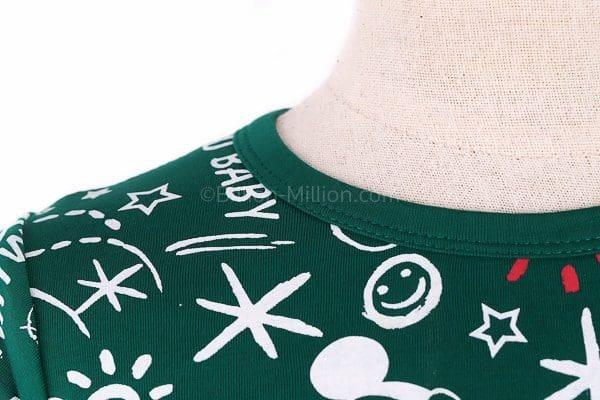 เสื้อยืดเด็กแขนสั้น CI-SI สีเขียว สกรีน Mickey Mouse 4