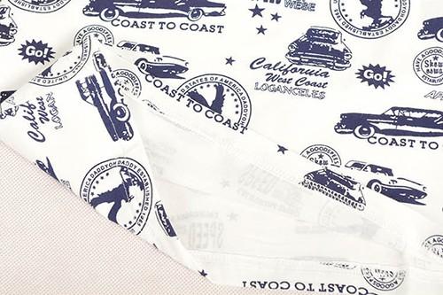 [ส่งฟรี] เสื้อยืดเด็กแขนสั้น CI-SI สีขาวปักแปะตัวอักษร Jamie สกรีนลายรถ 5