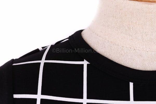 [ส่งฟรี] เสื้อยืดเด็กแขนสั้น CI-SI สีดำ สกรีนตารางแต่งซิป 4