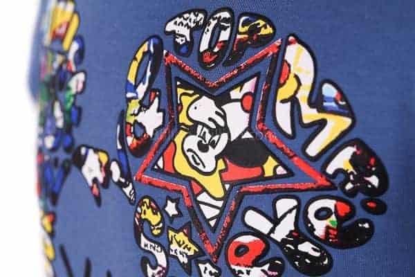 [ส่งฟรี] เสื้อยืดเด็กแขนสั้น CI-SI สีฟ้า สกรีนนูน Mickey Mouse 3