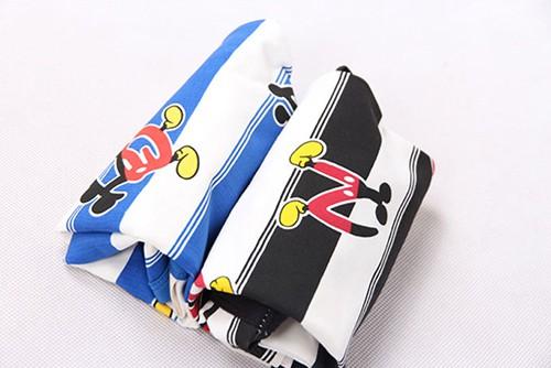 เสื้อยืดเด็กแขนสั้น CI-SI ลายขวางสีขาว-ดำ สกรีนตัวอักษร Mickey Mouse 5