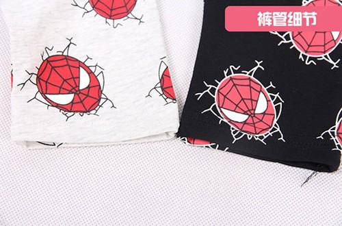 กางเกงเด็กขาสามสี่ส่วน CI-SI เอวยางยืด สกรีน Spiderman 6