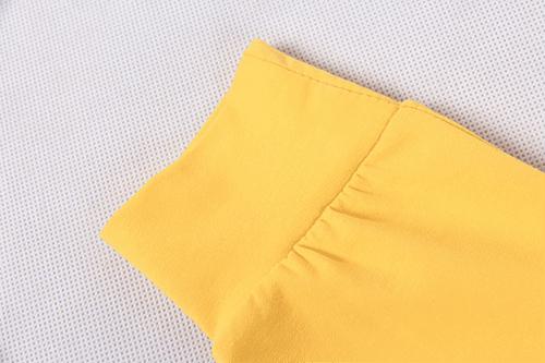 กางเกงเด็กขายาว CI-SI สีเหลือง สกรีน PLAY COMME des GARCONS 3