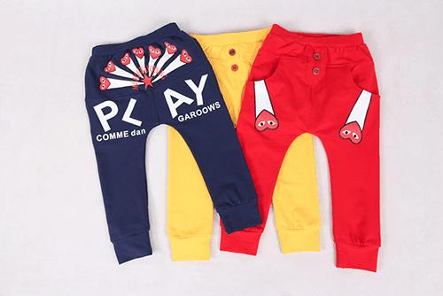 กางเกงเด็กขายาว CI-SI สีเหลือง สกรีน PLAY COMME des GARCONS 4