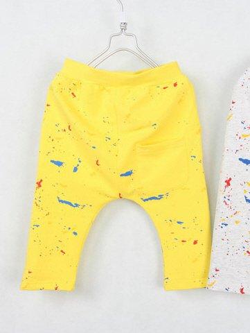 กางเกงเด็กขาสามสี่ส่วน CI-SI สีเหลือง สกรีนลายธงชาติ 5