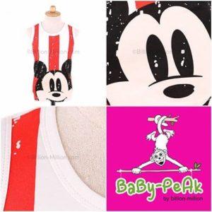 เสื้อกล้ามเด็ก CI-SI สีขาว-แดง สกรีน Mickey Mouse 11