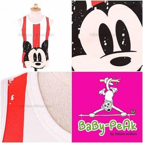 เสื้อกล้ามเด็ก CI-SI สีขาว-แดง สกรีน Mickey Mouse 1
