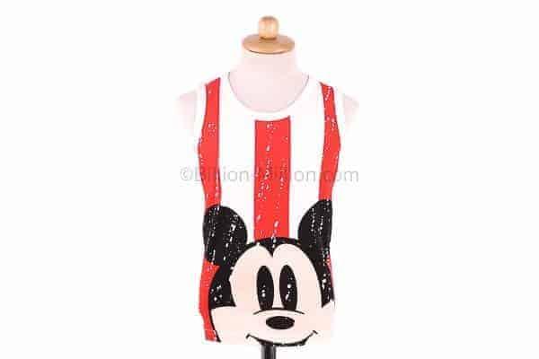เสื้อกล้ามเด็ก CI-SI สีขาว-แดง สกรีน Mickey Mouse 2
