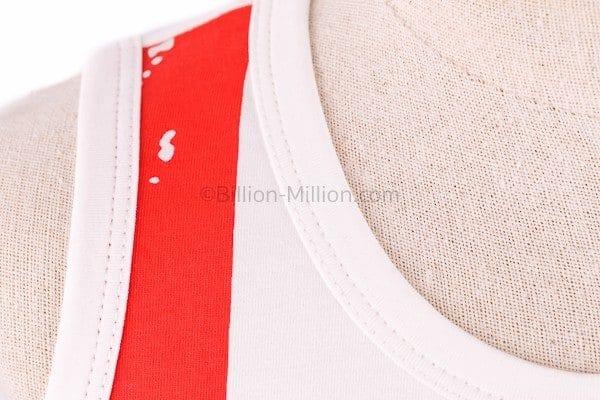 เสื้อกล้ามเด็ก CI-SI สีขาว-แดง สกรีน Mickey Mouse 4
