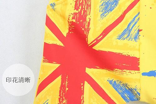 กางเกงเด็กขาสามสี่ส่วน CI-SI สีเหลือง สกรีนลายธงชาติ 2