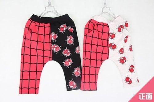 [ส่งฟรี] กางเกงเด็กขาสามสี่ส่วน CI-SI เอวยางยืด สกรีน Spiderman 1