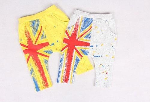 กางเกงเด็กขาสามสี่ส่วน CI-SI สีเหลือง สกรีนลายธงชาติ 6