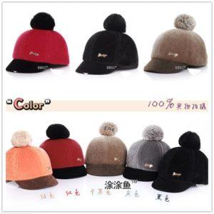 หมวกกันหนาวเด็ก ด้านหลังเป็นเมจิกเทป สามารถปรับขนาดได้ 2