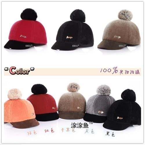 หมวกกันหนาวเด็ก ด้านหลังเป็นเมจิกเทป สามารถปรับขนาดได้ 1