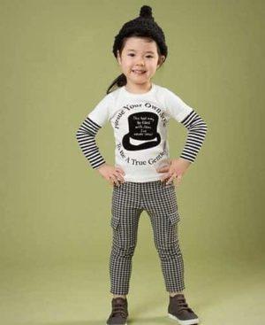 เสื้อยืดเด็กแขนยาว CI-SI สีดำ สกรีนและปักแปะ PLAY Comme des Garcons 4