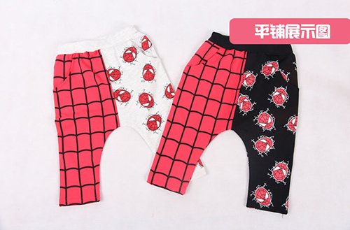 กางเกงเด็กขาสามสี่ส่วน CI-SI เอวยางยืด สกรีน Spiderman 2
