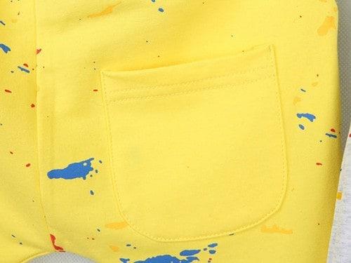 กางเกงเด็กขาสามสี่ส่วน CI-SI สีเหลือง สกรีนลายธงชาติ 4