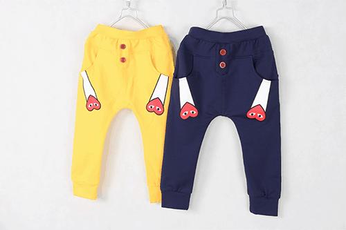 กางเกงเด็กขายาว CI-SI สีเหลือง สกรีน PLAY COMME des GARCONS 1