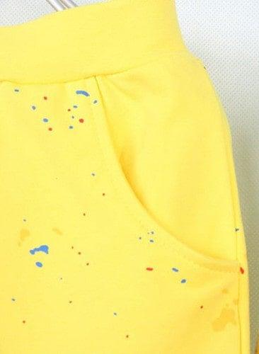 กางเกงเด็กขาสามสี่ส่วน CI-SI สีเหลือง สกรีนลายธงชาติ 3