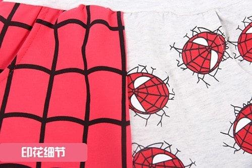 กางเกงเด็กขาสามสี่ส่วน CI-SI เอวยางยืด สกรีน Spiderman 4