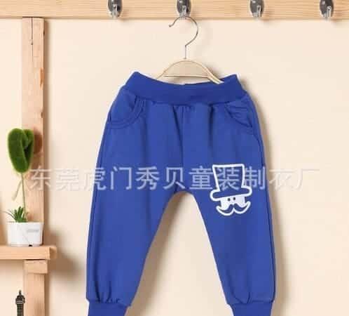 [ส่งฟรี] กางเกงเด็กขายาว เอวยางยืดแต่งกระเป๋าด้านหลัง สกรีน Mr.Potato Beard 2