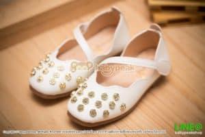 รองเท้าคัทชูลำลองเด็กสีขาว