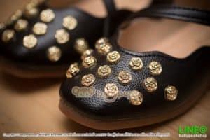 รองเท้าคัทชูลำลองเด็กสีดำ