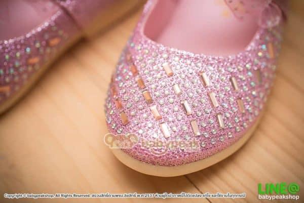 รองเท้าคัทชูเด็กผู้หญิงใส่ออกงานสีชมพู
