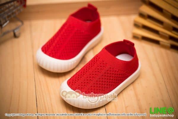 รองเท้าผ้าใบเด็กแบบสวม