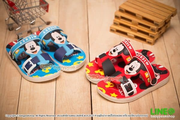 รองเท้าแตะรัดส้น Mickey Mouse