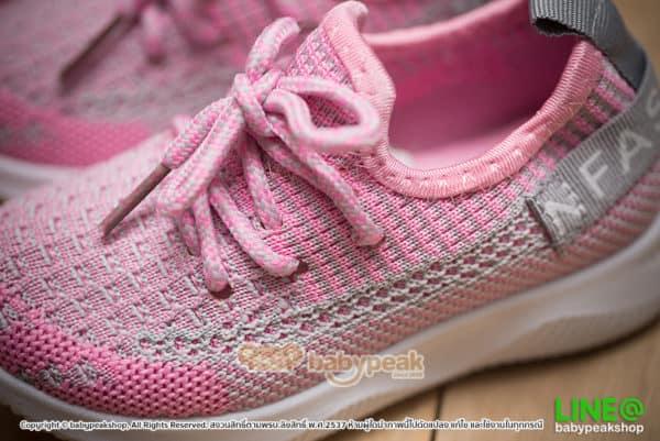 รองเท้าผ้าใบเด็กผูกเชือกสไตล์สปอร์ต
