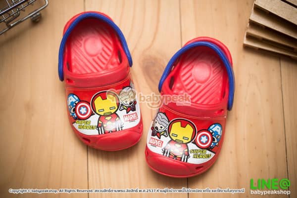 รองเท้าหัวโตเด็กผู้ชาย Marvel