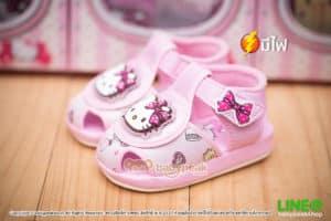 รองเท้ารัดส้นมีไฟ Hello Kitty