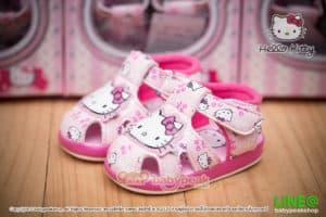 รองเท้ารัดส้นหัดเดิน Hello Kitty